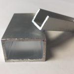 Alumiinium nelikanttoru ja alumiinium U-profiil